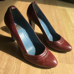 Biala Red Leather Heels